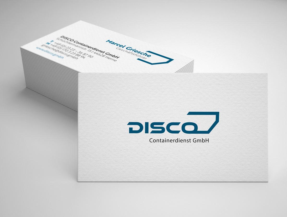 Disco GmbH Visitenkarten