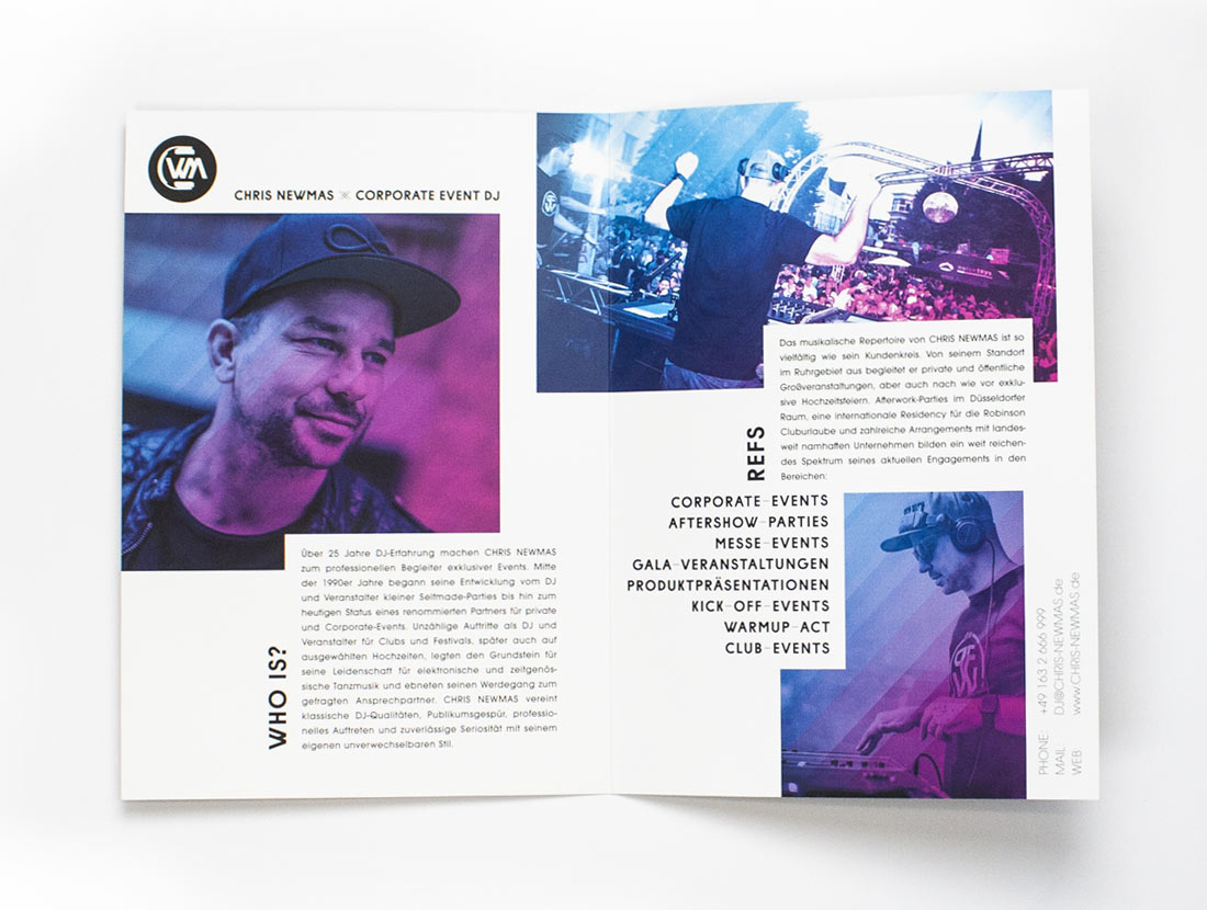 Chris Newmas Broschüre