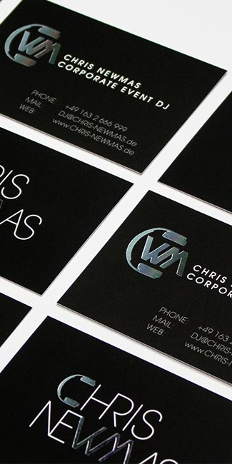 Chris Newmas Visitenkarten
